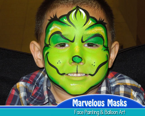 Grinch Christmas Face Art