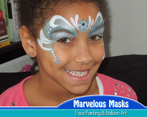 Snowlfake Fairy Christmas Face Art