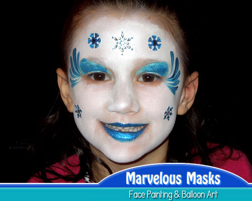 Ice Queen Face Painting