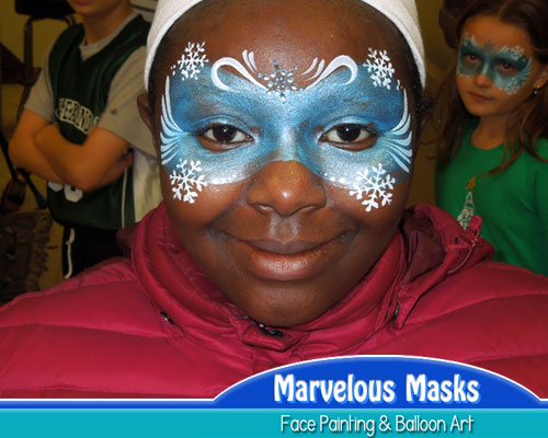 Winter Mask Face Painting