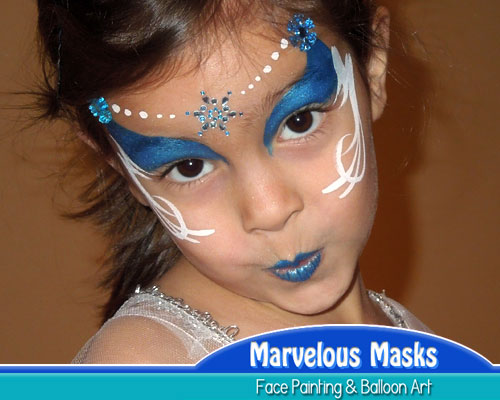 Snowflake Princess Face Painting