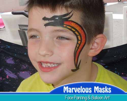 Tribal Dragon Fast Chicago Face Painting
