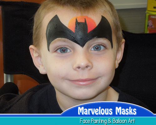 Batman Mask Fast Chicago Face Painting