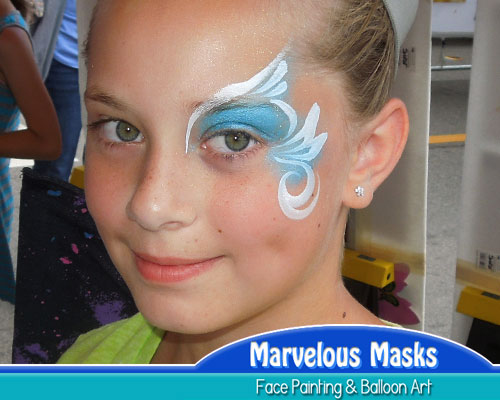 Blue Princess Eye Fast Chicago Face Painting