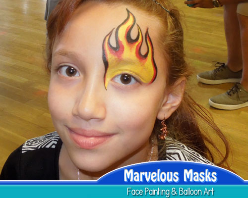 Fire Flame Eye Fast Chicago Face Painting
