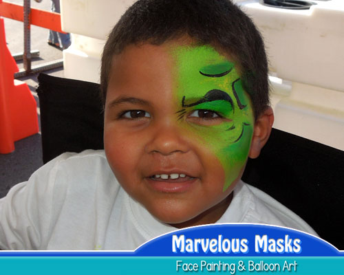 Incredible Hulk Eye Fast Chicago Face Painting