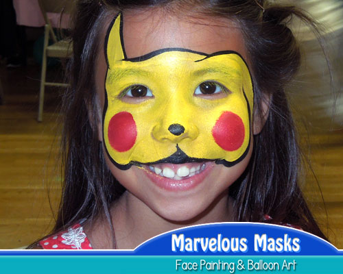 Pikachu Face Painting