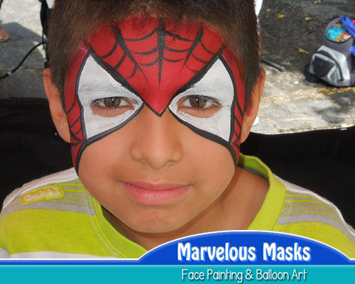 Spider-Man Mask Fun Chicago Face Art