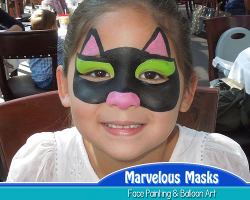 Cat MaskHalloween Face Painting