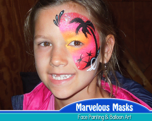 Tropic Island Face Painting