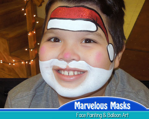 marvelous masks christmas face painting for holiday parties